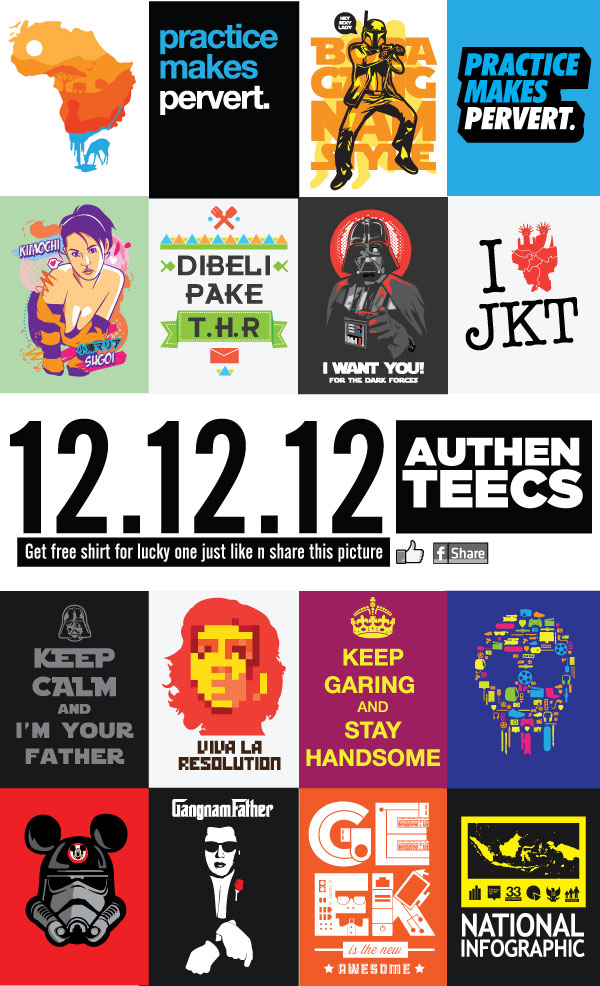 12-12-12 Free Tshirt From Authenteecs