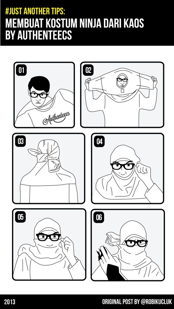 how to create ninja mask from tshirt-01